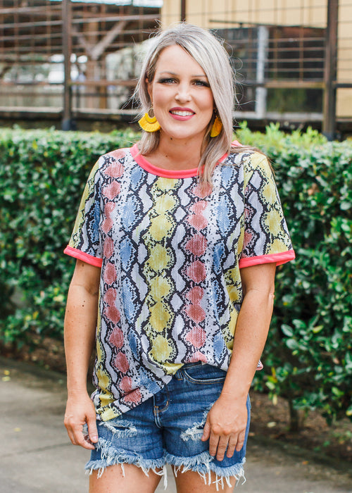 Yellow Snake Top (S-XL)