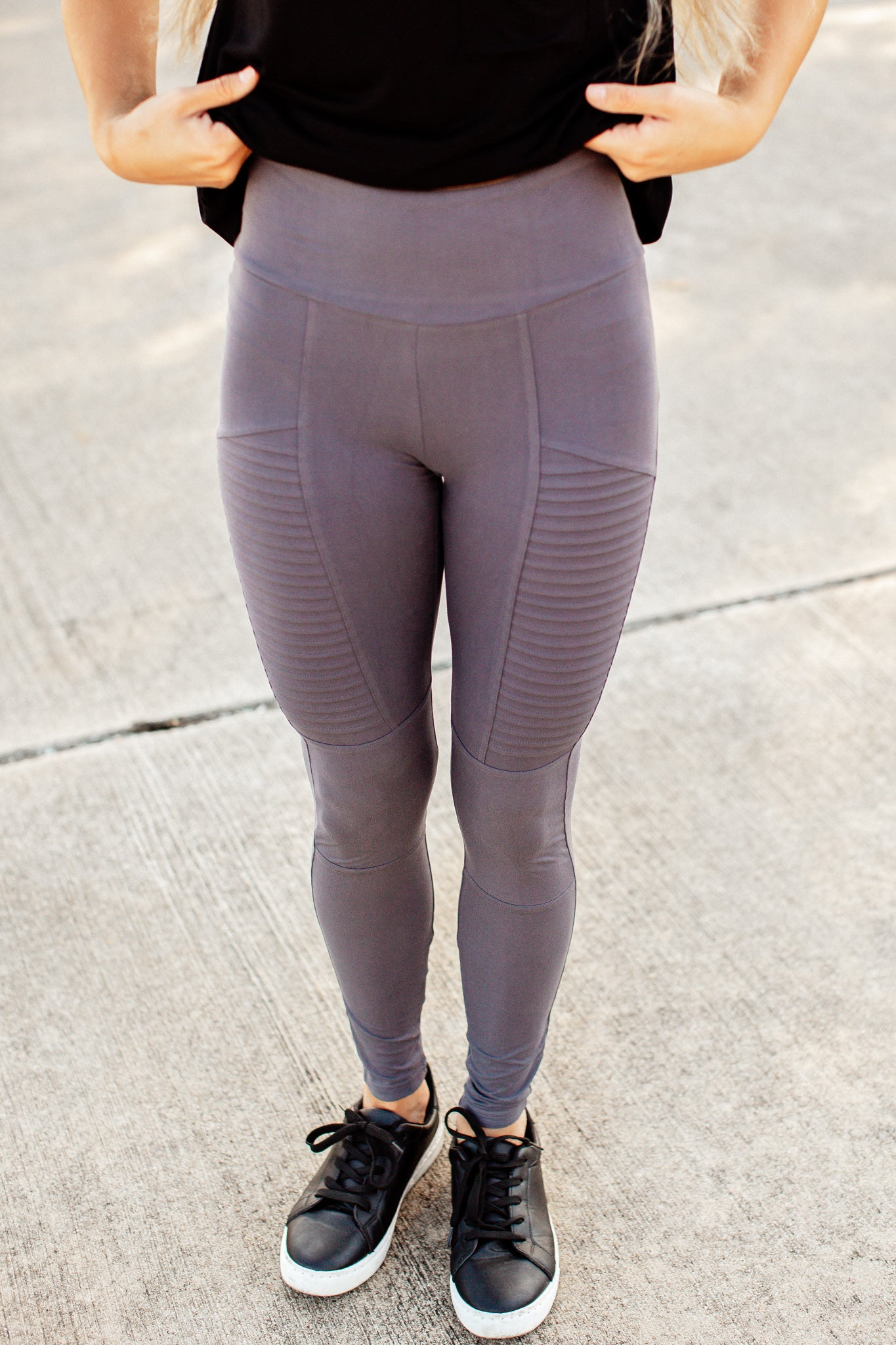 Moto Leggings (S-3X) *CHARCOAL
