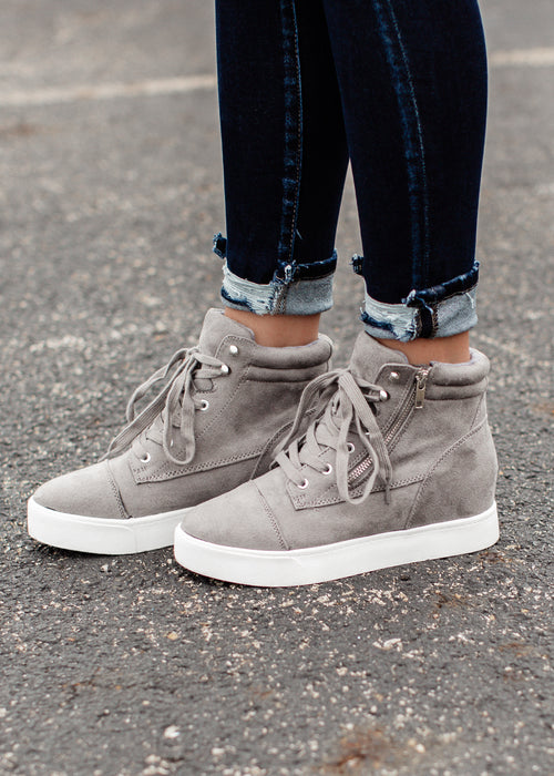Fresh High Top Lace Up Shoe (5.5-11) *GREY