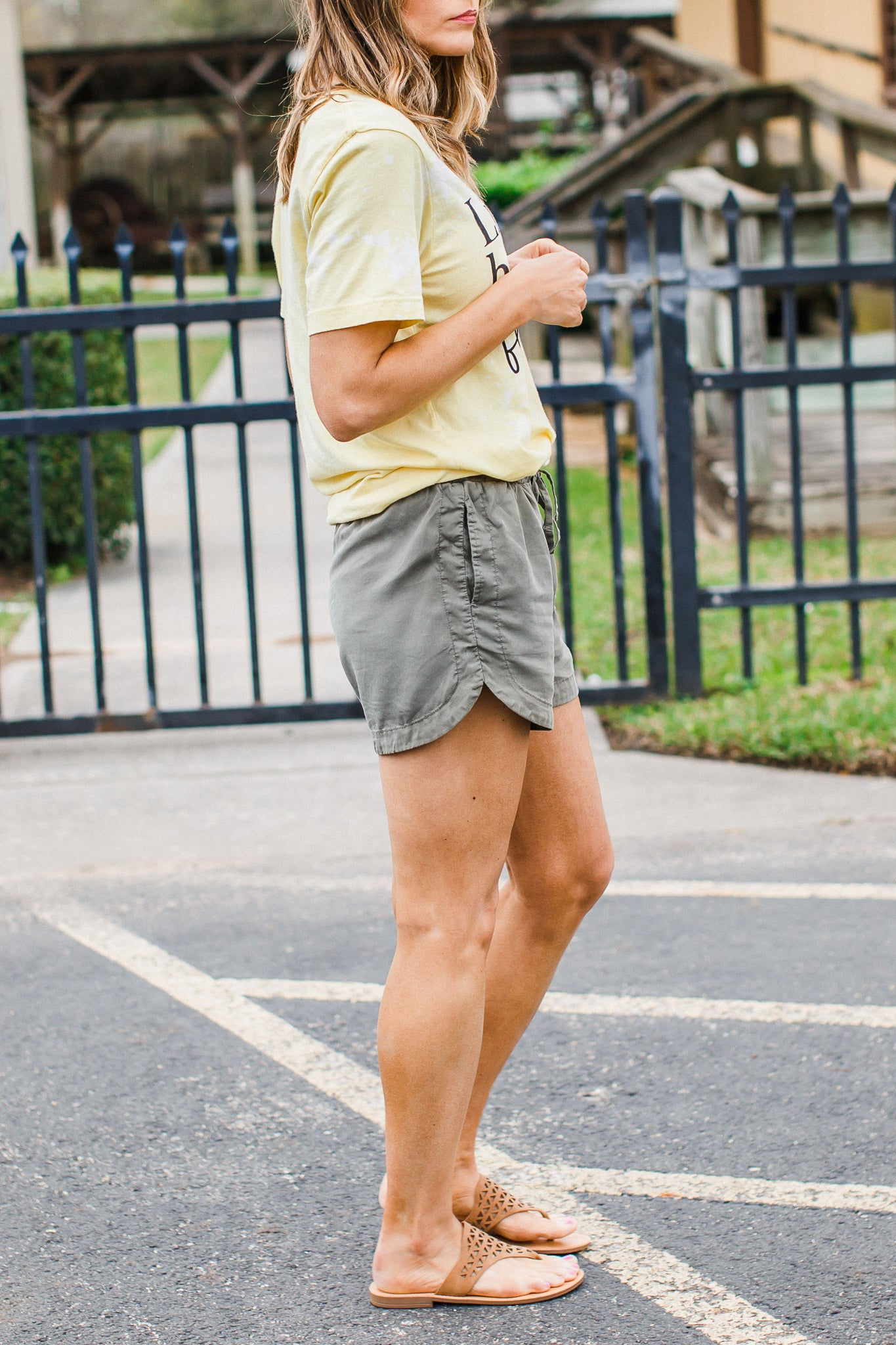 Tencel Shorts Olive