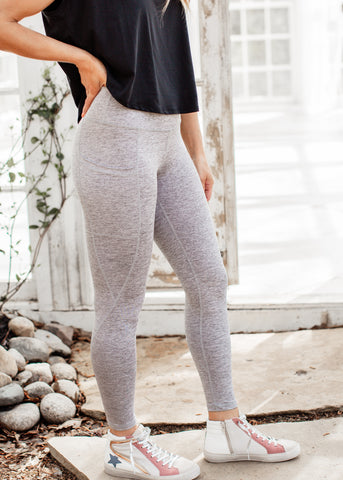 Faded Mineral Wash Leggings (CAN FIT XL) *FADED BLACK