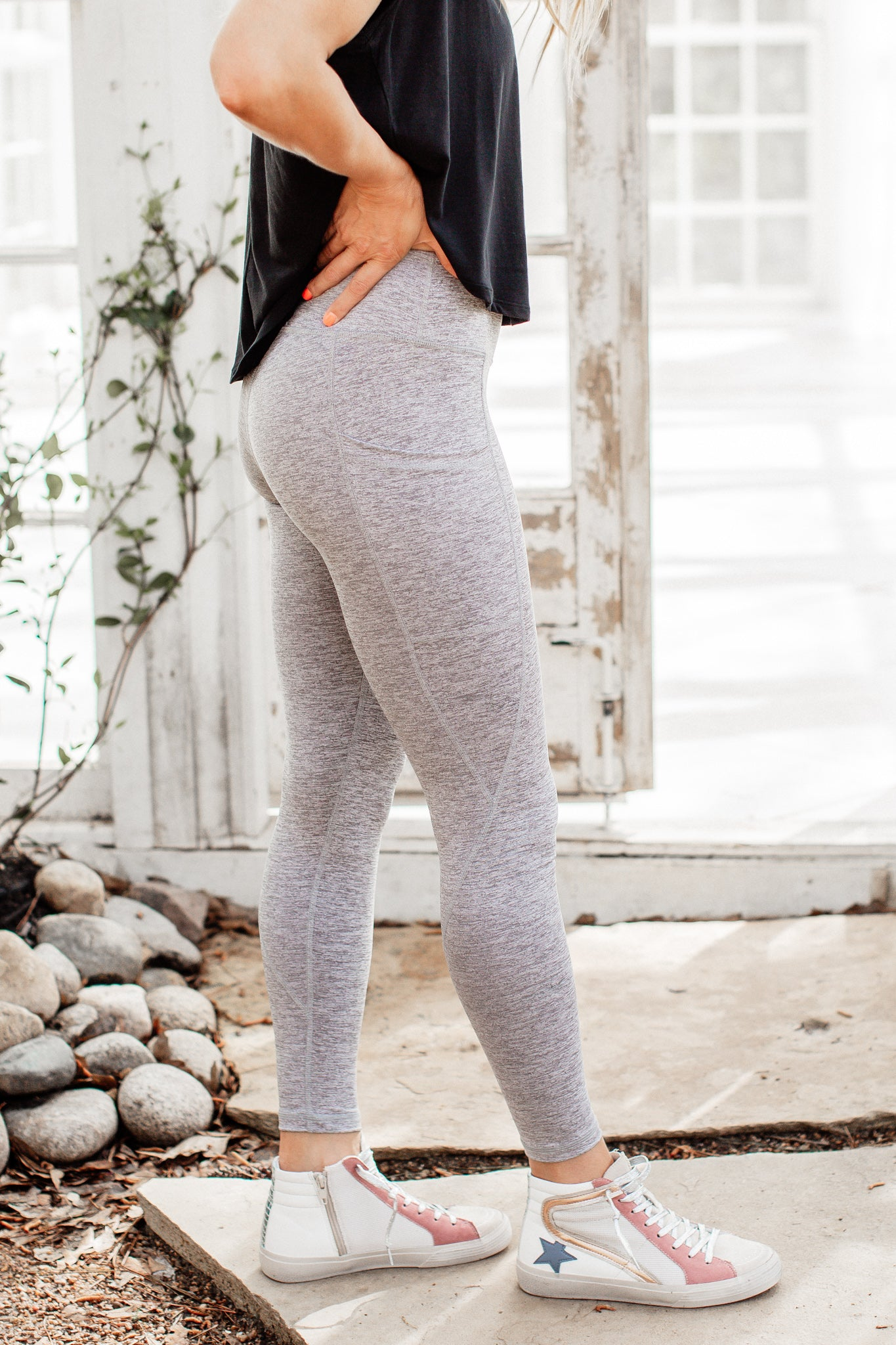 Silver Workout Leggings (S-3X)