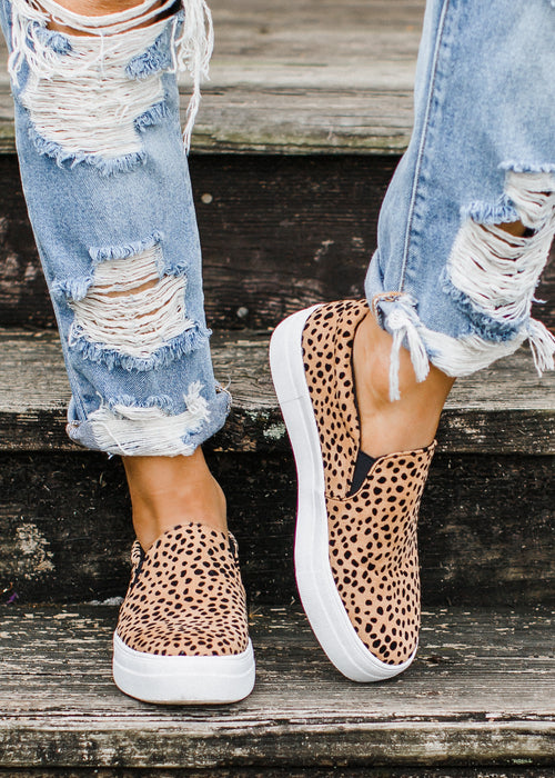 Corbin Slip On Shoe *Oatmeal Cheetah (5.5-11)