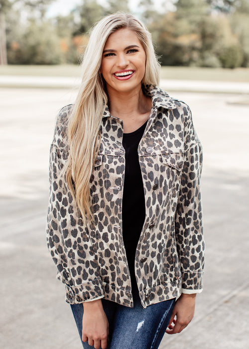 Leopard Jacket Over Sized