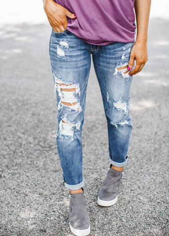 Wyatt Distressed Skinny Jeans