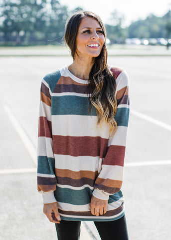 Lace Mocha Ribbed Top