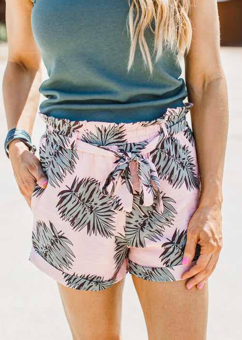 Peach Leaf Shorts