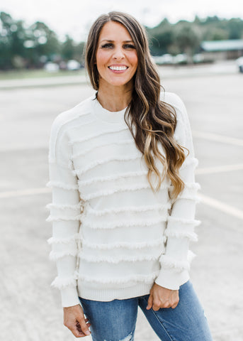 Stretchy Ribbed Stripe Top