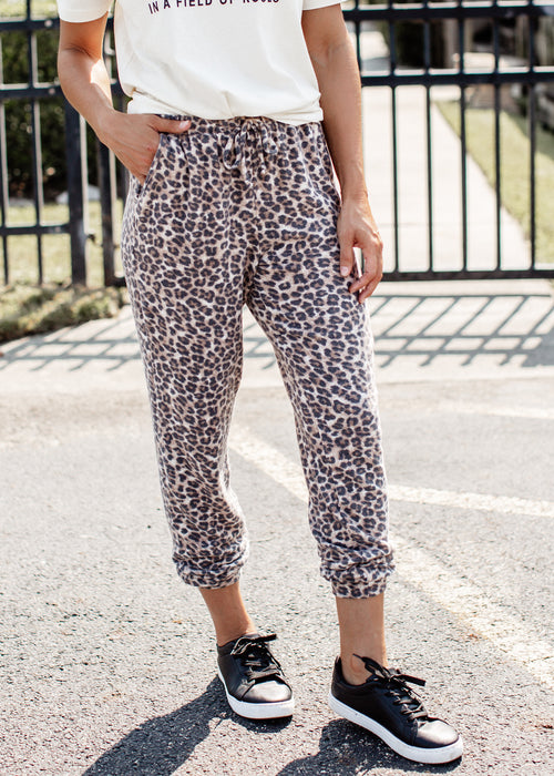 Brushed Leopard Joggers (S-3X)