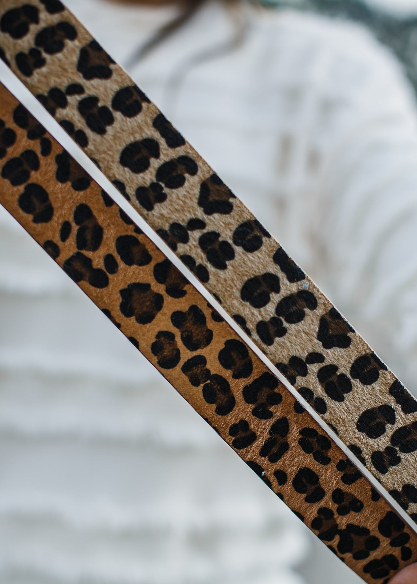 Hair On Leopard Belt *Light Brown Leopard