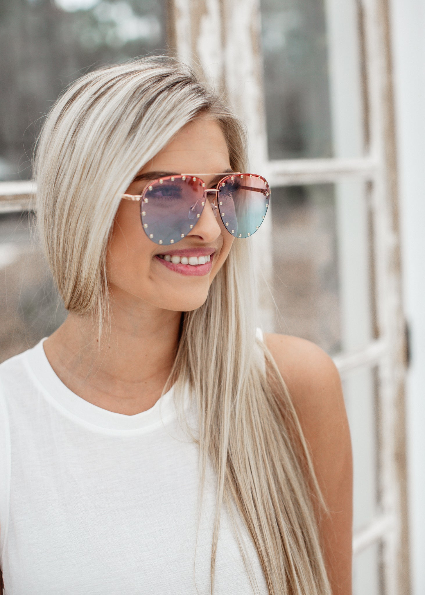 Stud Sunglasses *Pink/Blue