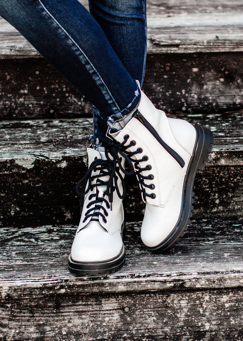 Lace Up Boots (5.5-11) *WHITE
