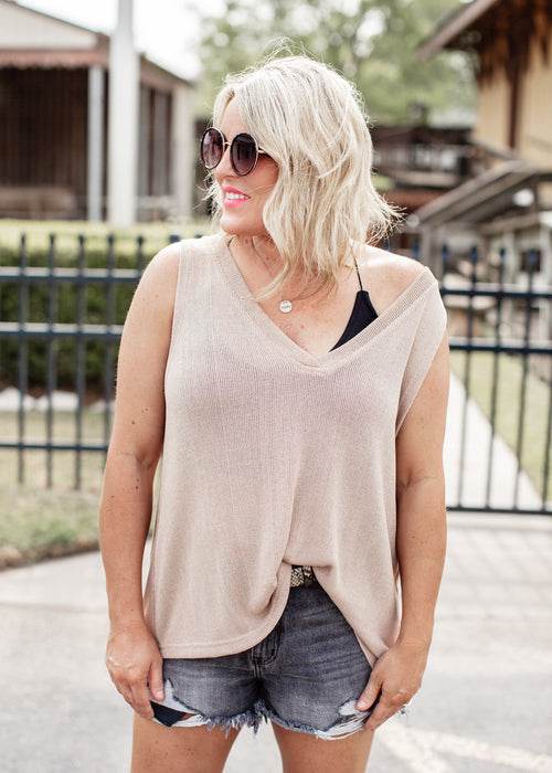Portia Deep V-Neck Top