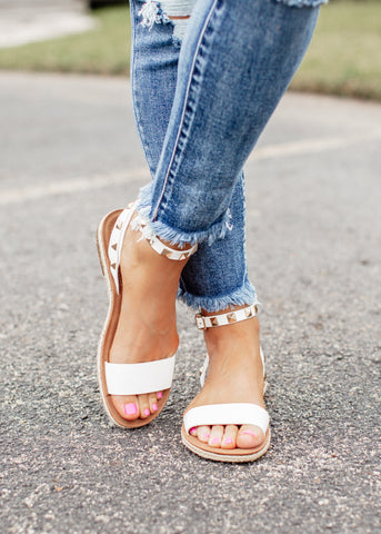 Clear Sparkle Buckle Sandals (5-11)