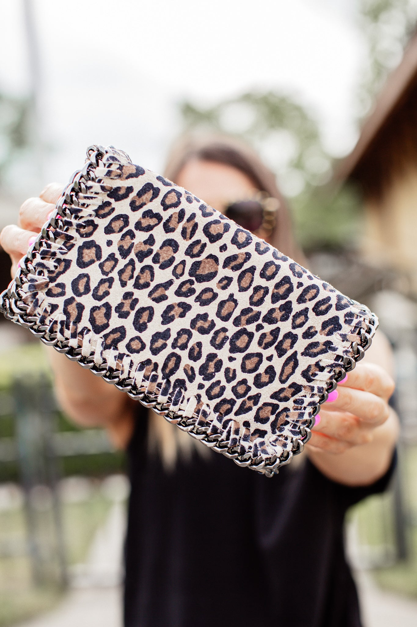 Crossbody/Clutch Purse *LEOPARD