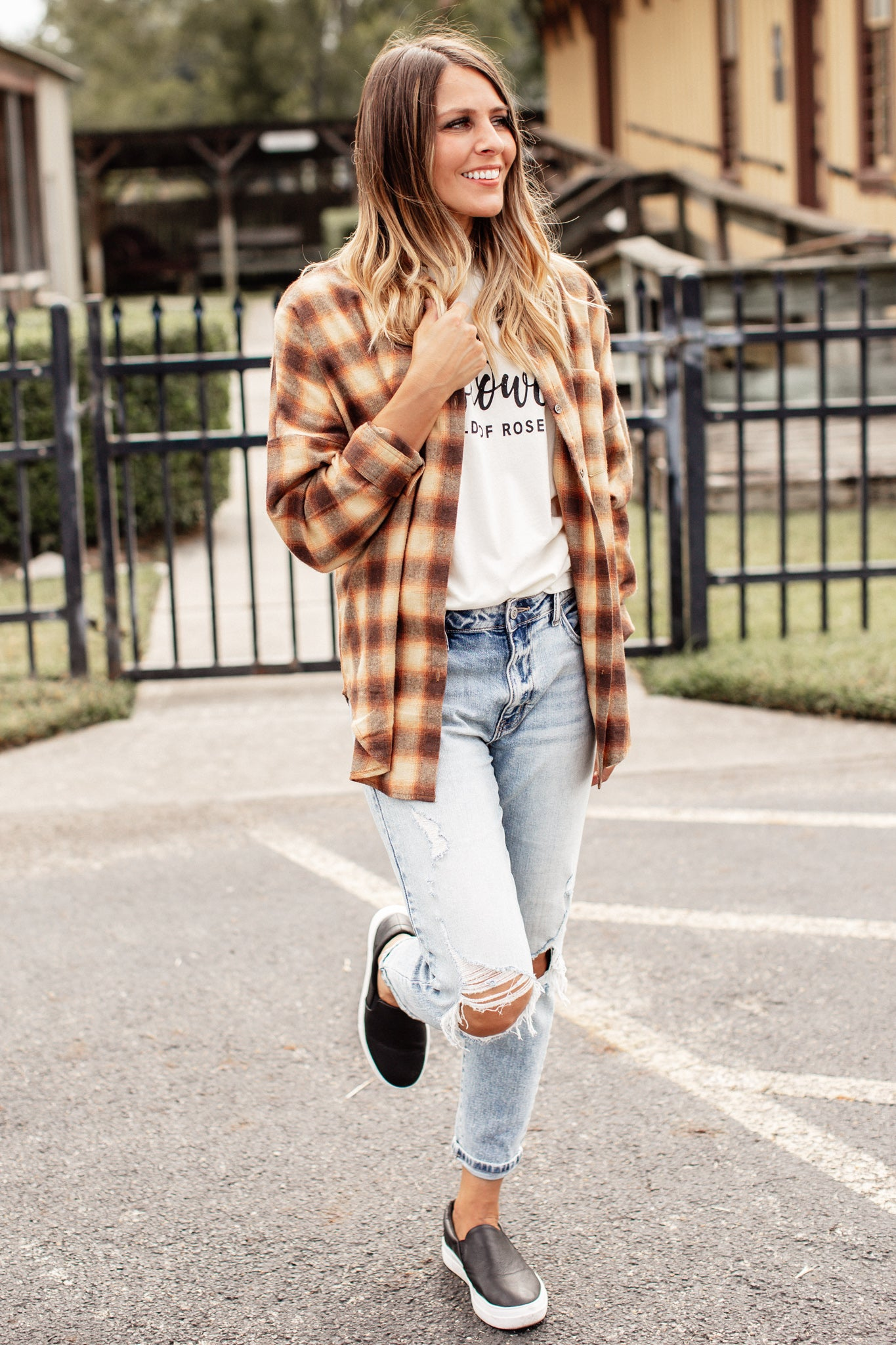 Brown Checkered Flannel