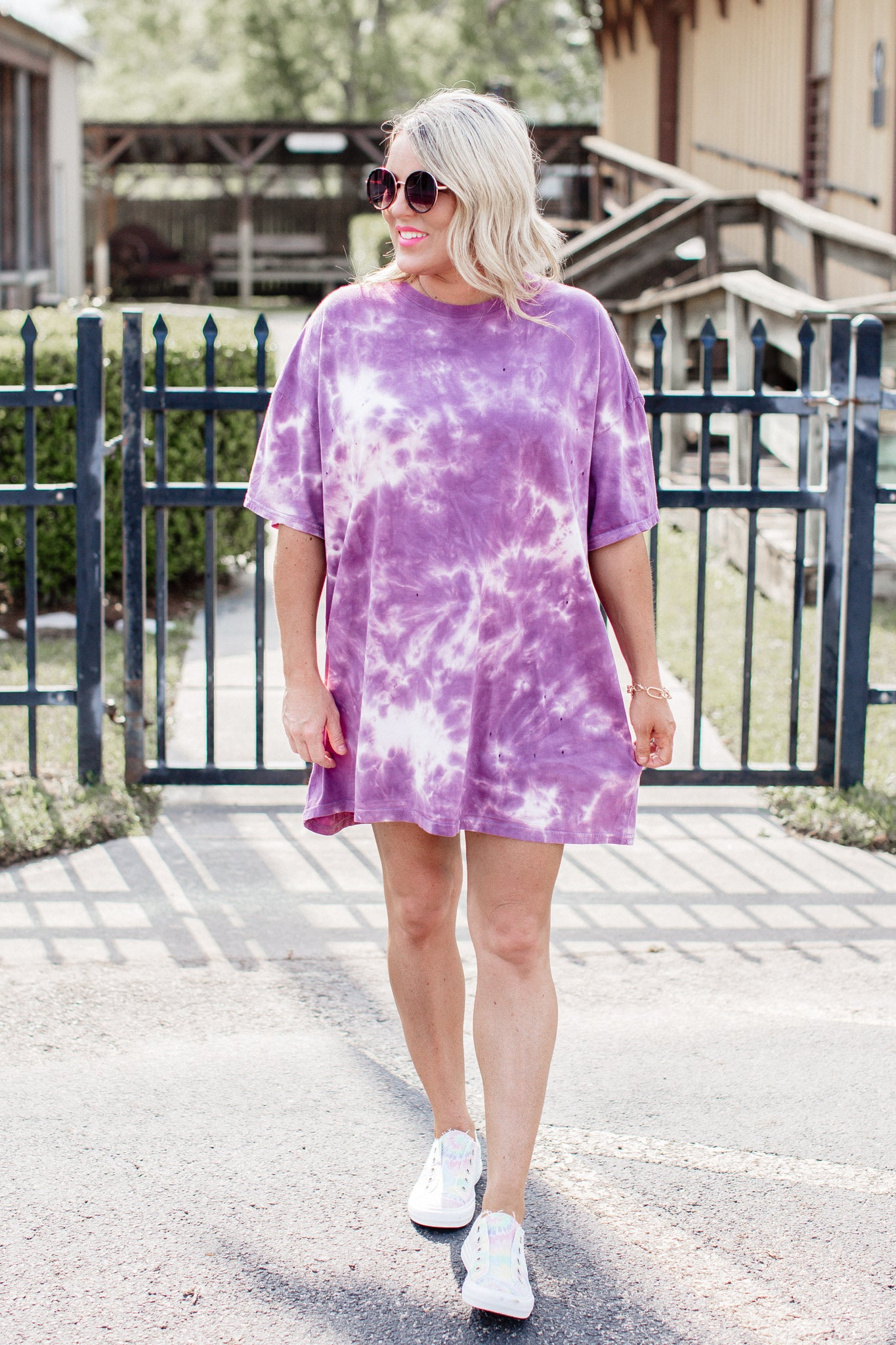Oversized Tie Dye T-Shirt (CAN FIT XL) *PURPLE