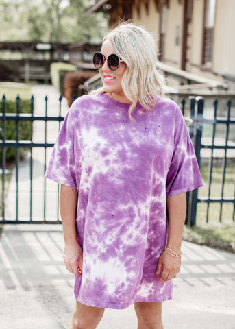 Oversized Tie Dye T-Shirt (CAN FIT XL) *BRICK