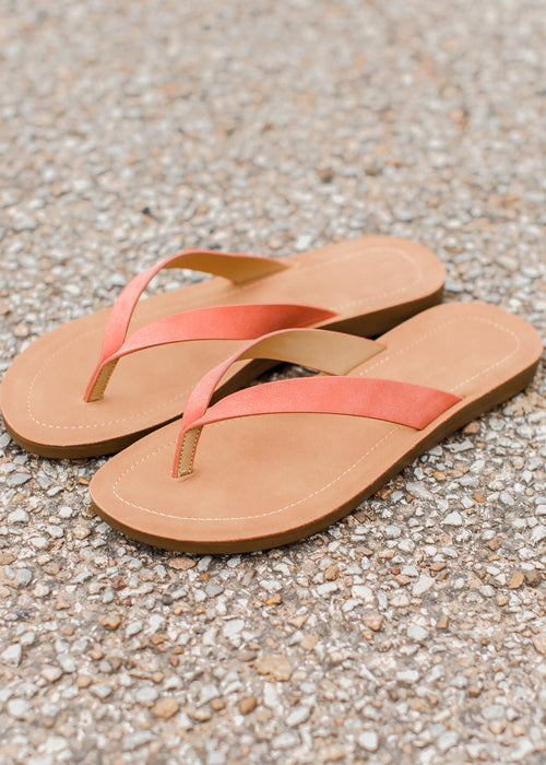 Basic Sandal (Size up 1/2 size) 5.5-11 *CORAL