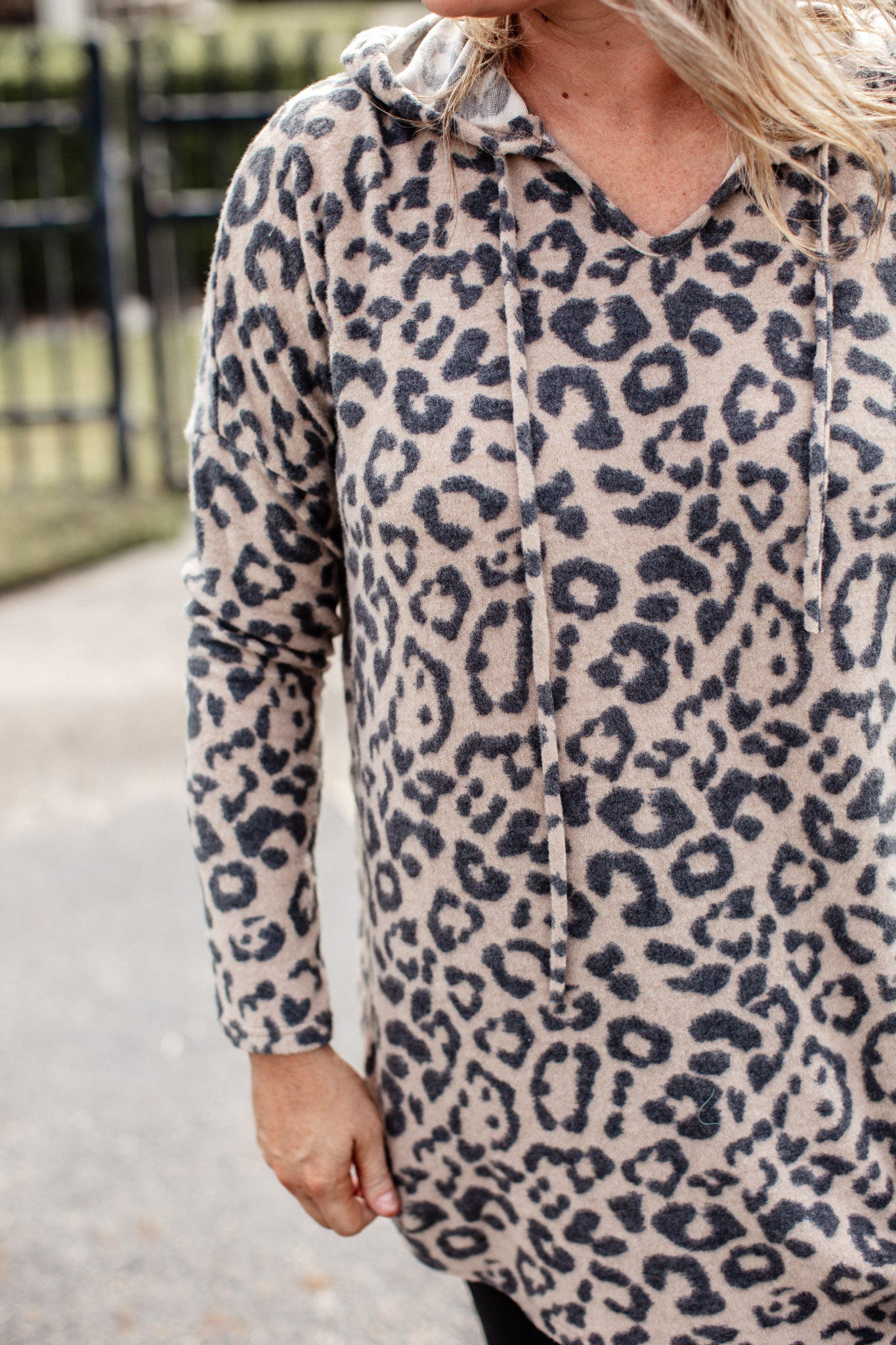 Lori Leopard Hoodie (S-XL) *TAUPE