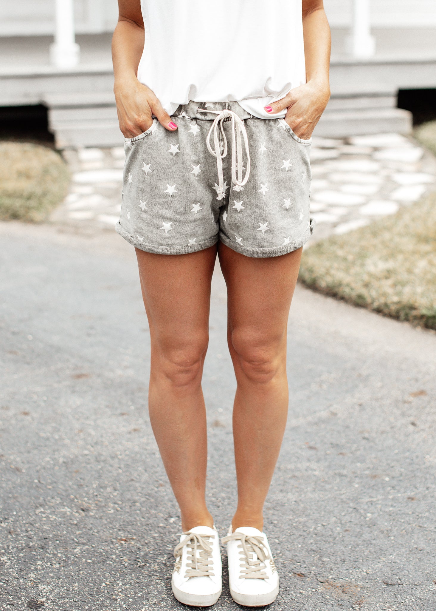 Star Mineral Wash Shorts *OLIVE
