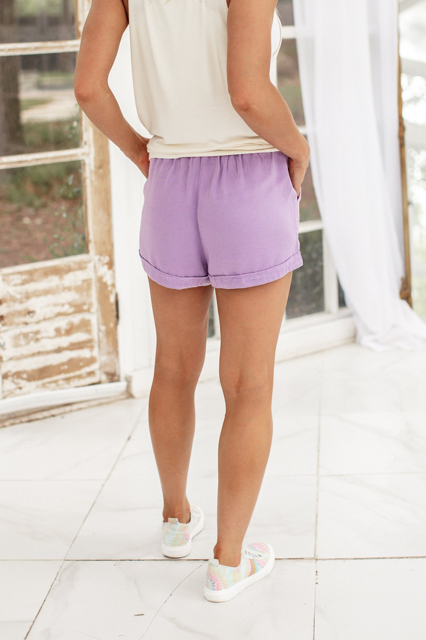 Stormy Colored Shorts *LAVENDER