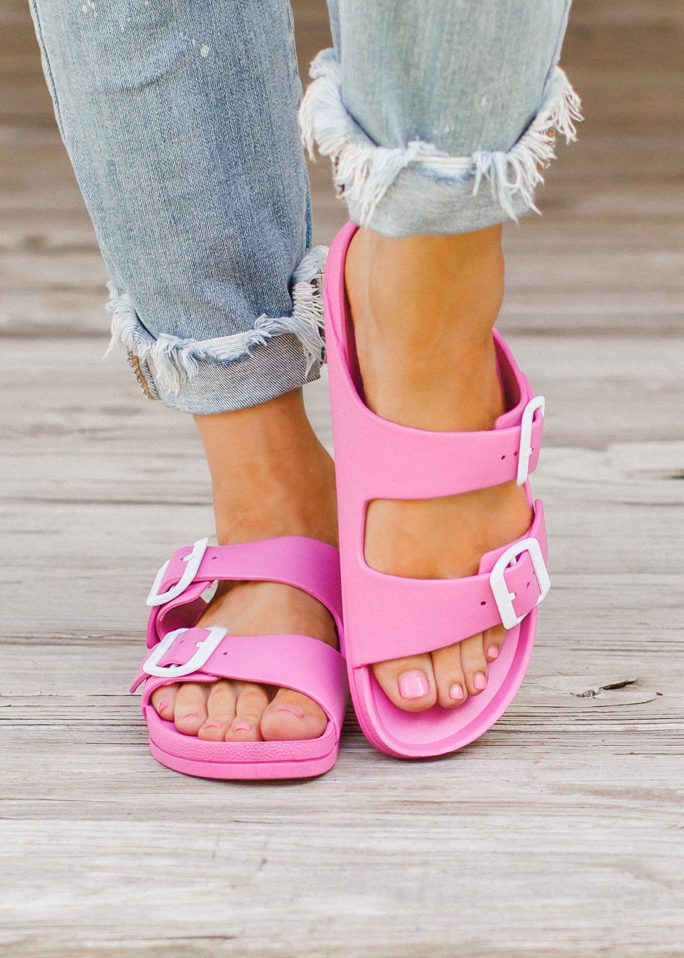 Pink Mia Buckle Sandals (6-11)