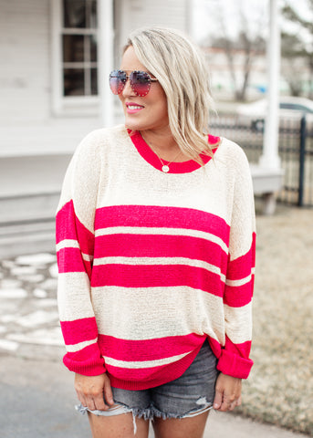 Going For It Color Block Top