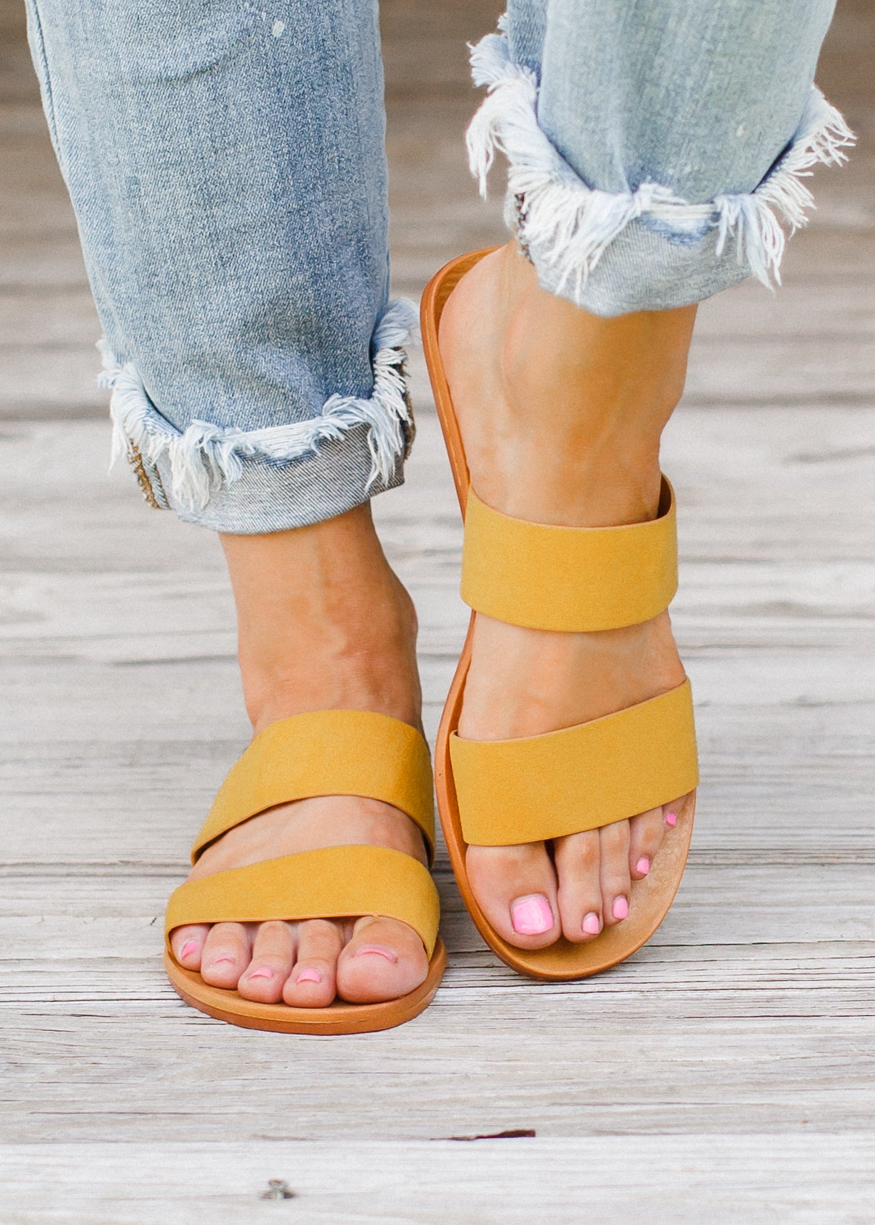 Two Strap Sandals (6-10) *MARIGOLD