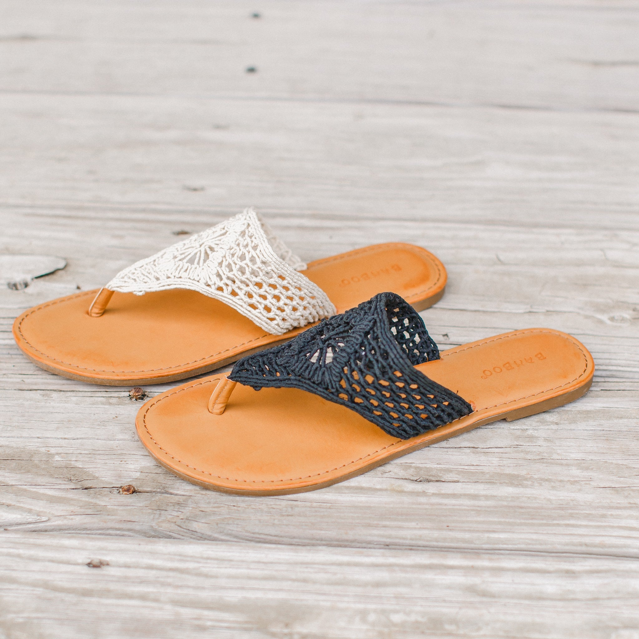 Crochet Sandals (7-11) *BLACK (READ SIZING!)