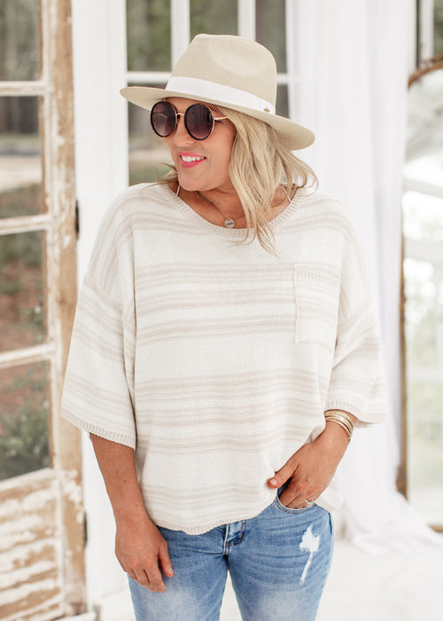 Rachel Stripe Knit Top