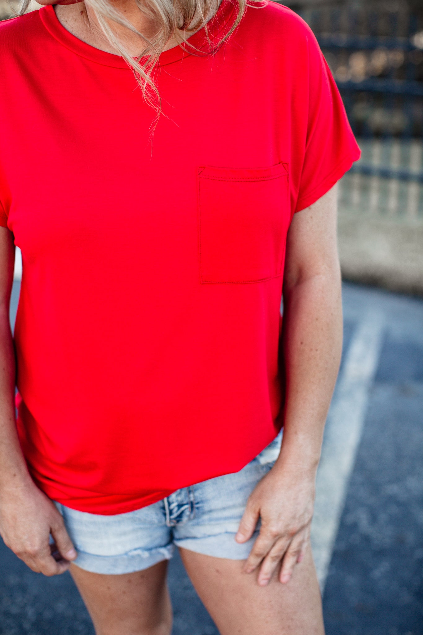 Basic Pocket Top (S-XL) *RED