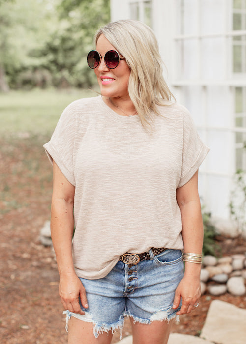 Alex Knit Top *TAUPE