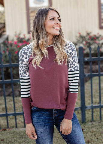 Cassie Color Block Top *SAGE