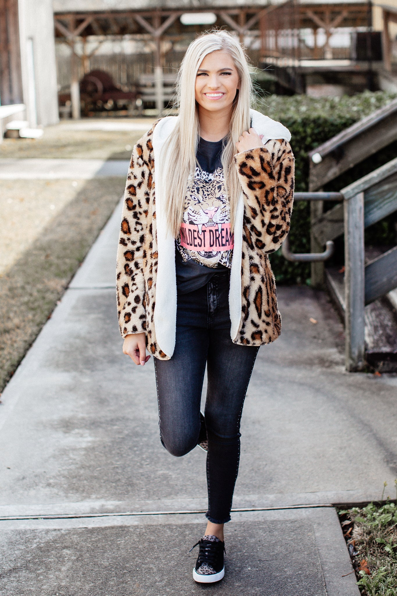 Reversible Leopard Soft Jacket