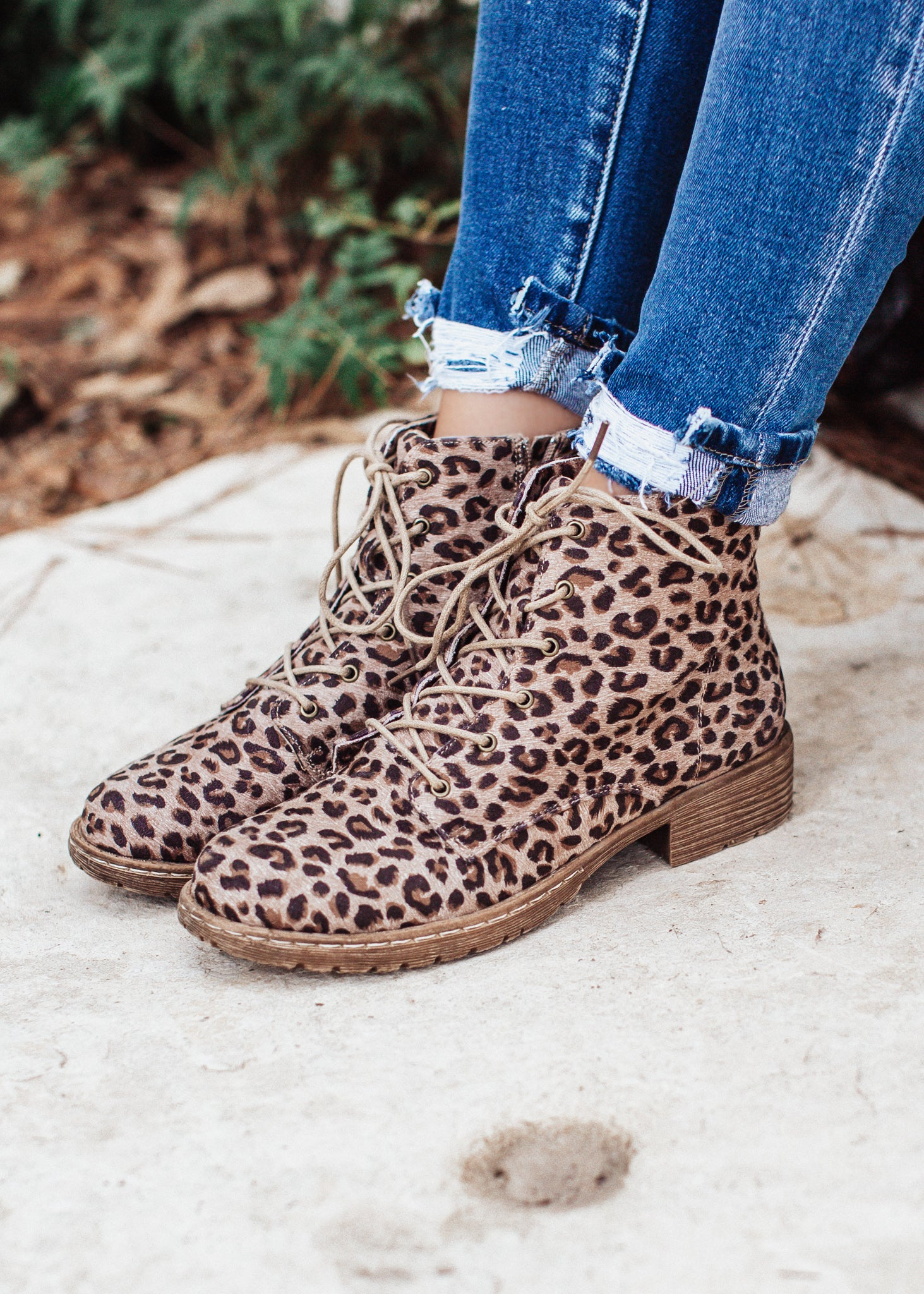 Naomi Tan Leopard High Top Shoe (6-11)