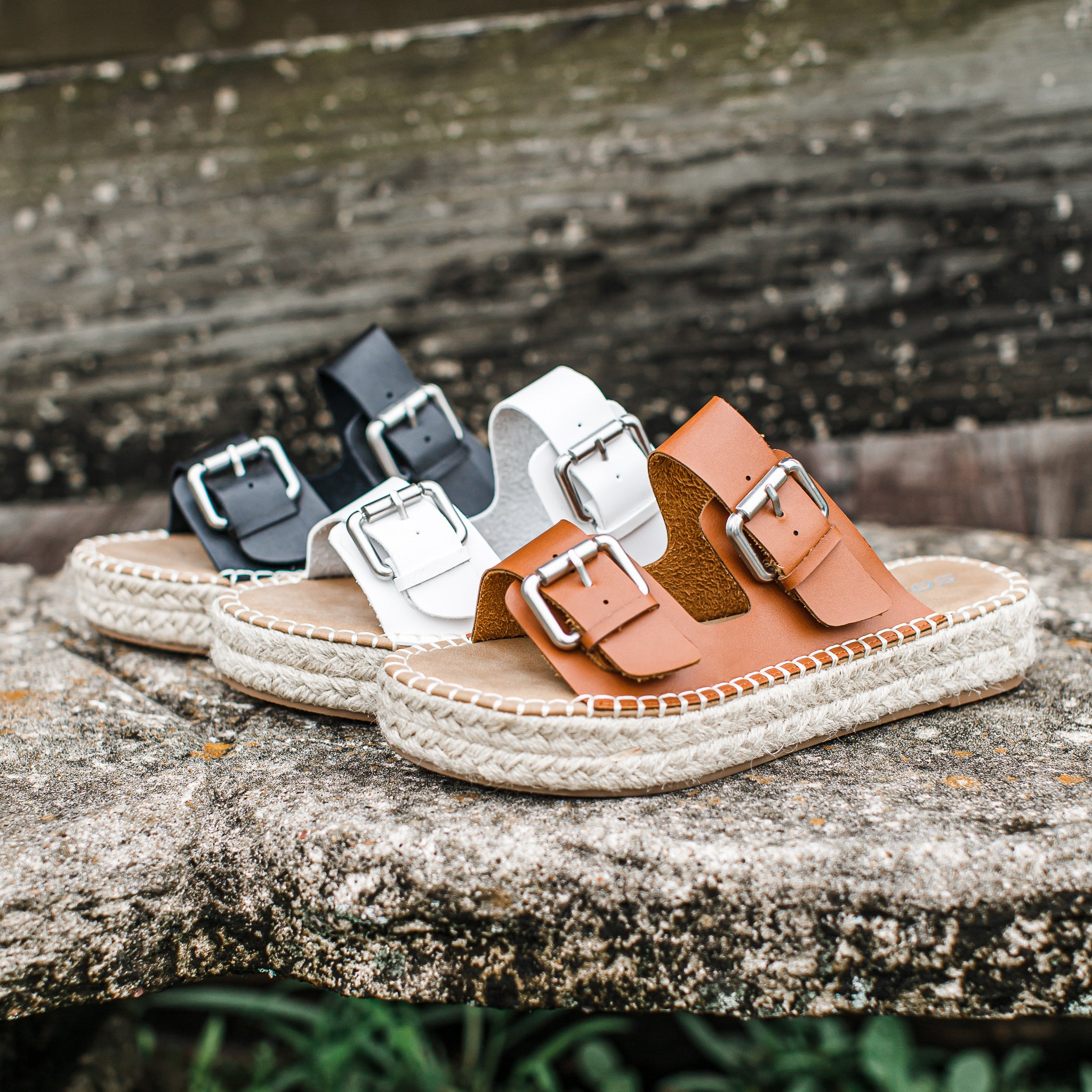 Leather Buckle Espadrille Shoe (6-11) *TAN