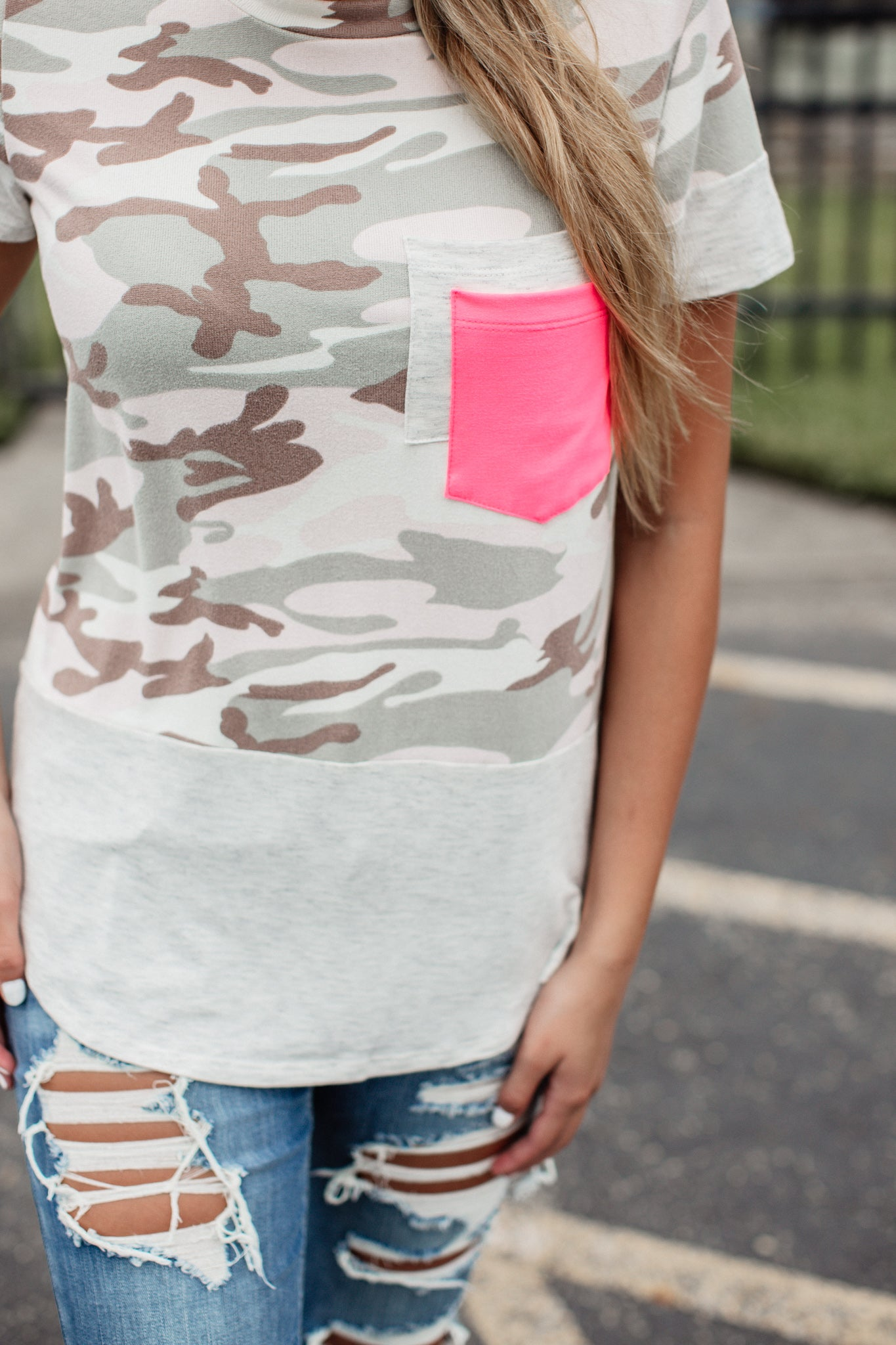 Peggy Camo Top