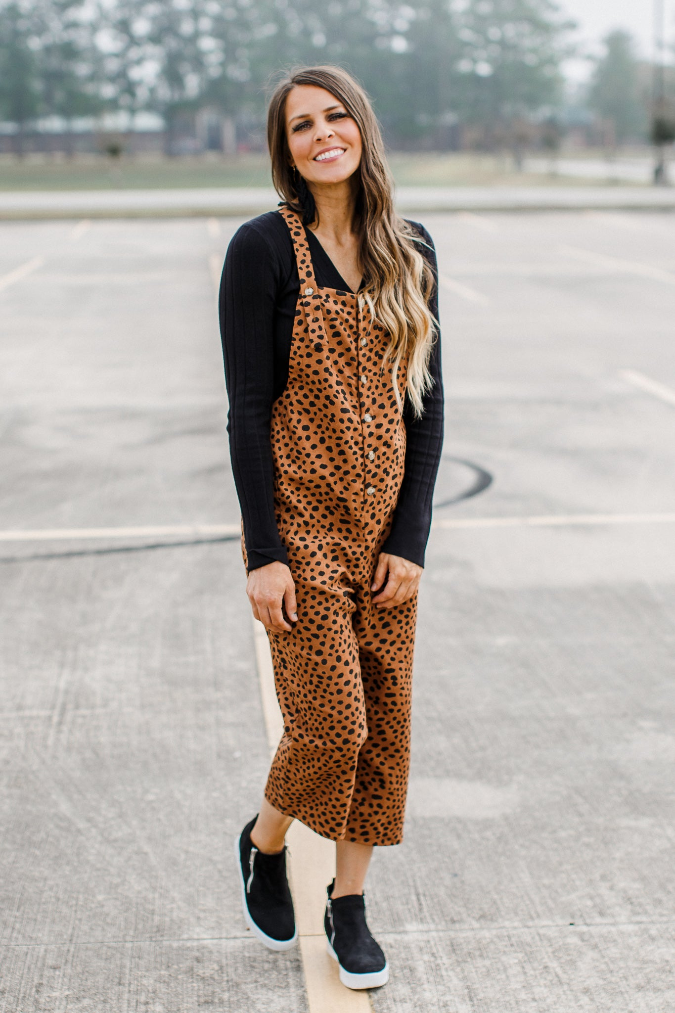 Cheetah Jumpsuit *Brown