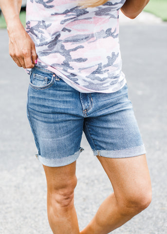 Bonnie Medium Denim Shorts ( S-XL )