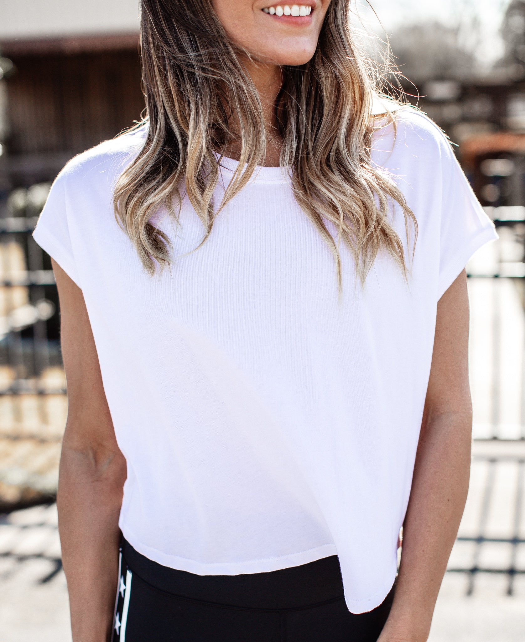 Boxy Crop Fit Top *WHITE