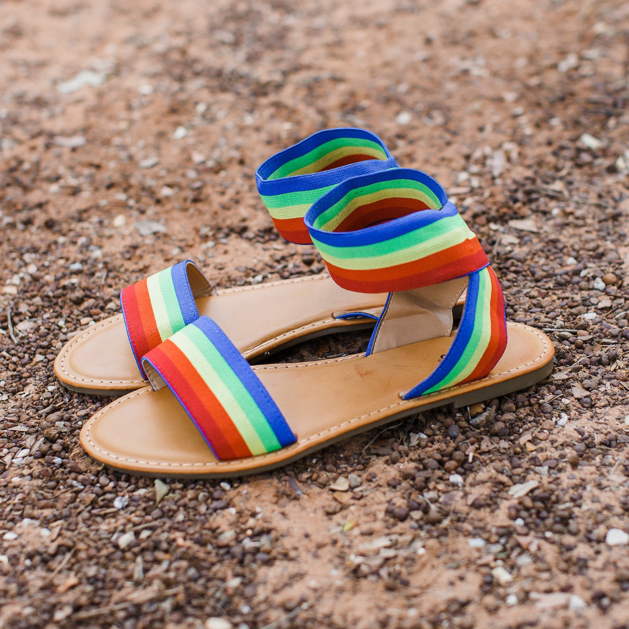 Rainbow Sandals (6-10) *Size up 1/2 size