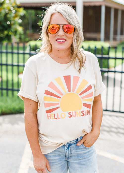 Hello Sunshine Tee (S-3X)