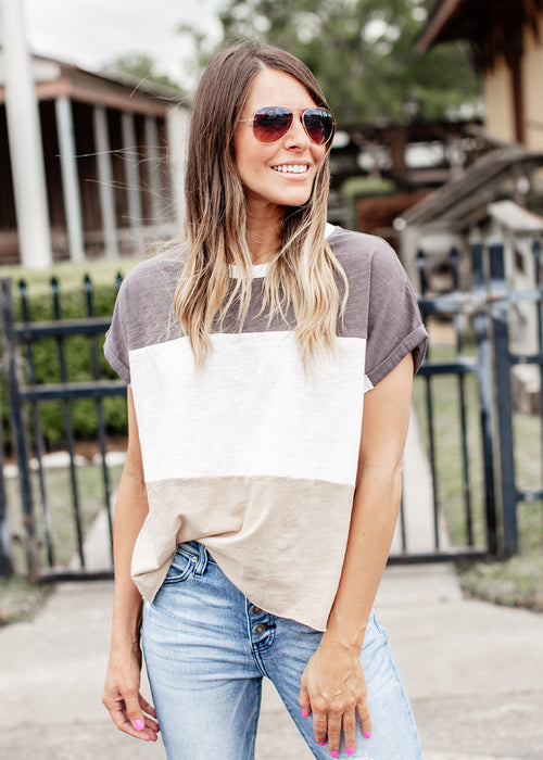Charlie Color Block Top