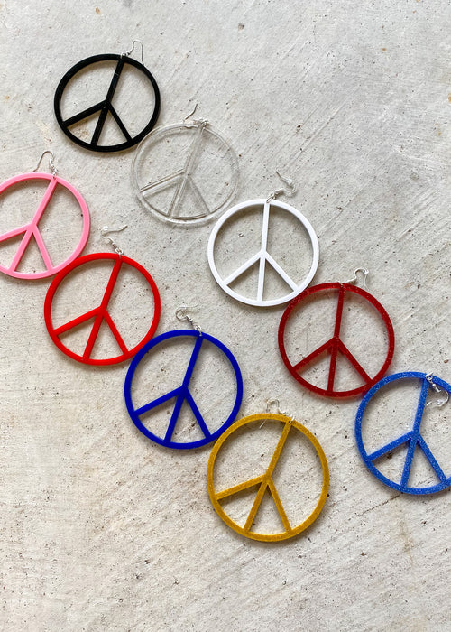 Peace Sign Earrings *9 COLORS