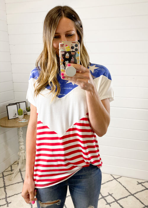Flag Chevron Top (S-3X)