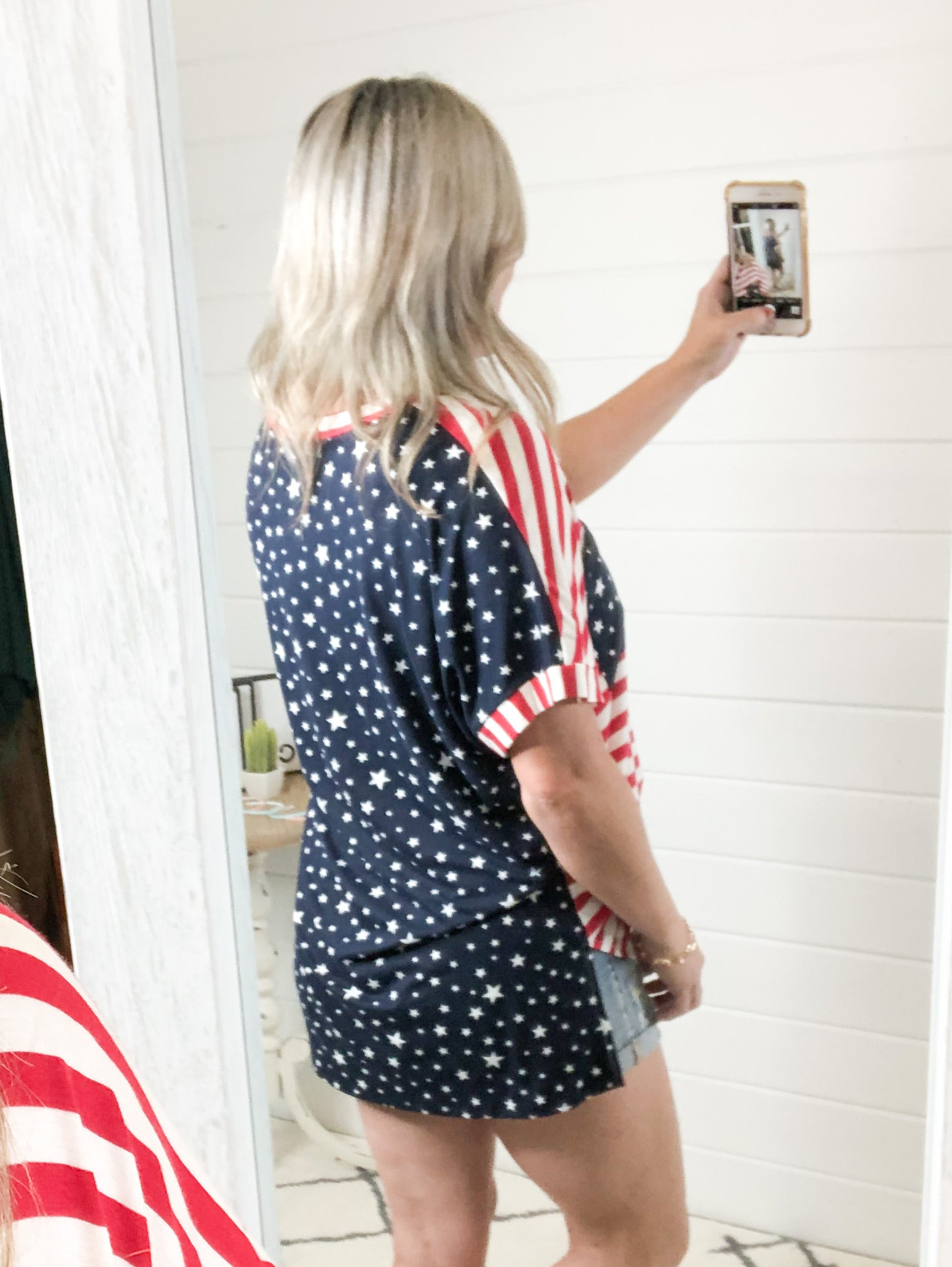 Stars And Stripes Top (S-3X)