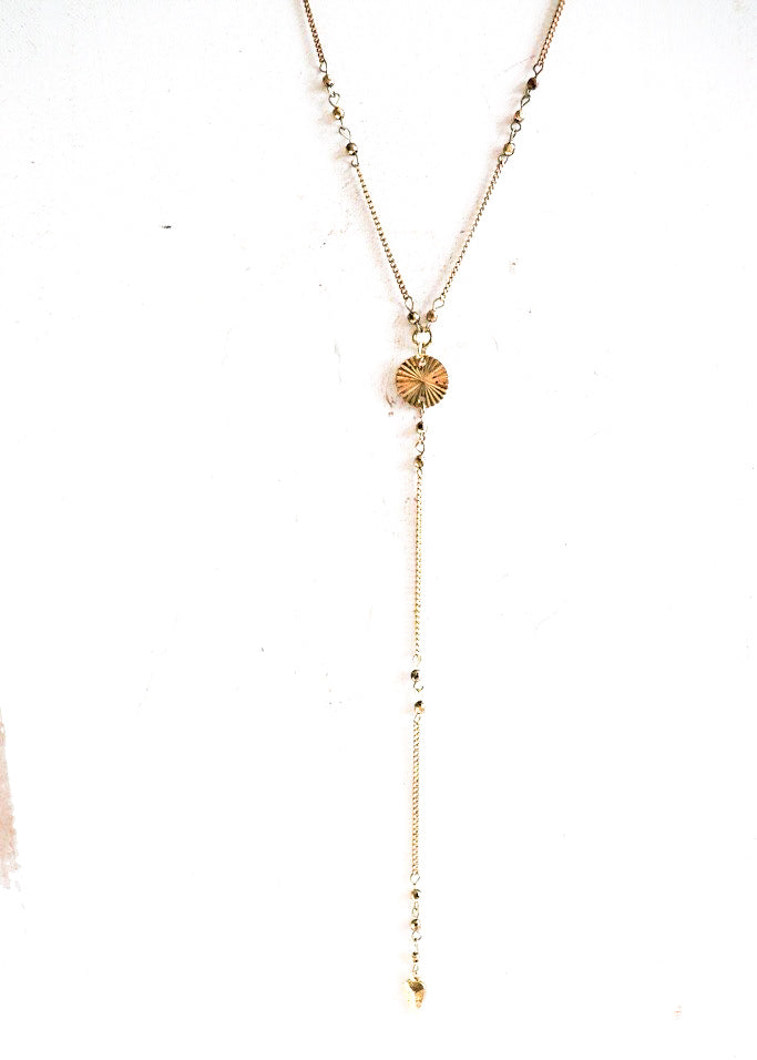 Lariat Necklace *Antique Gold