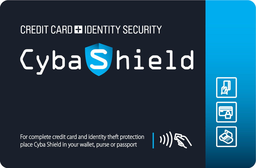 CybaShield ID & Credit Card Protection RFID Card (credit card size)