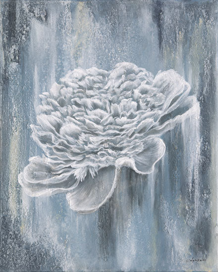 Angela Bawden AB112 - AB112 - Peony Blues - 12x16 Peonies, Blue Peony, Flowers, Blue & White, Abstract from Penny Lane